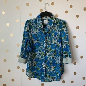 🆕Anthro HD In Paris Hanalei Floral Shirt